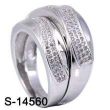 Fashion Wedding Ring with Micro Pave CZ (S-14560. JPG)